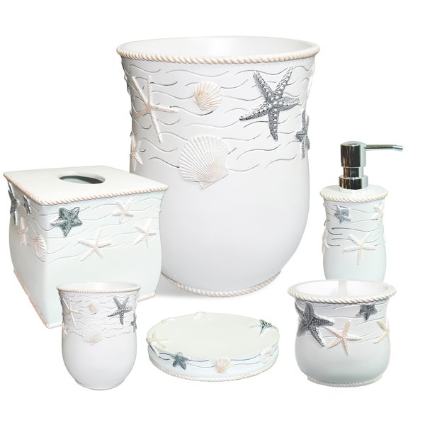 Belmar 6 Piece Bath Accessory Set Or Separates  Ivory