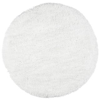 Rizzy Home Hand-Tufted Commons White Round Area Rug - 3' x 3'