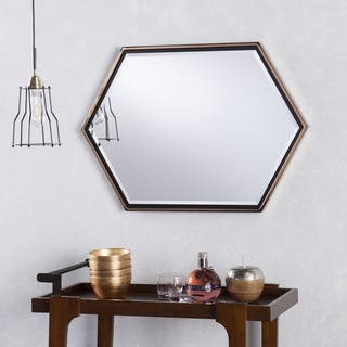 Holly & Martin Whexis Champagne Gold Frame Hexagon Wall Mirror