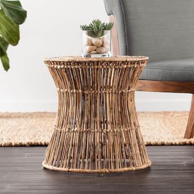 SEI Furniture Ocala Hyacinth Accent Table/Stool