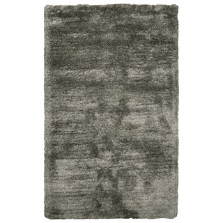 Commons Oatmeal Polyester Hand-Tufted Solid Area Rug (3' Round)