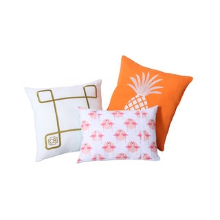 Clairebella Tropical 3-pack Decorative Throw Pillow Set