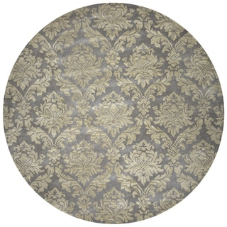 Rizzy Home Hand-tufted Bradberry Downs Grey Wool Area Rug (8' Round)