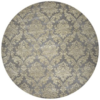 Rizzy Home Hand-tufted Bradberry Downs Grey Wool Area Rug (8' Round) - 8' x 8'