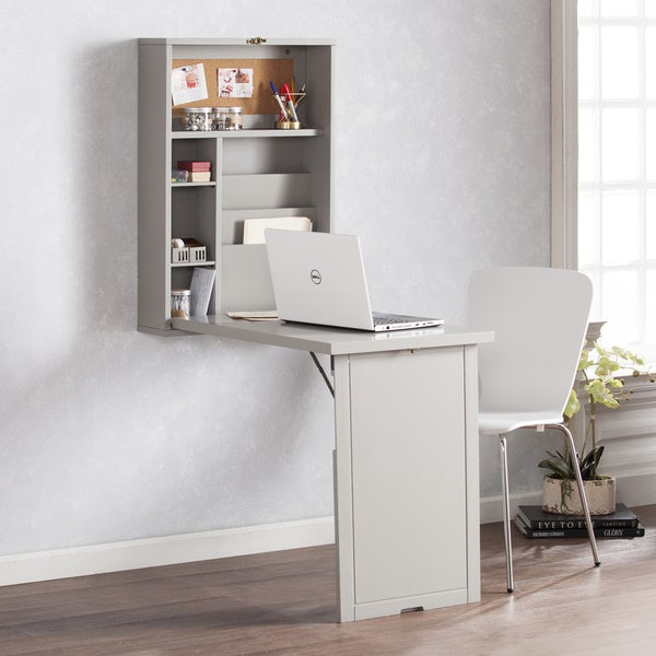 Genial Harper Blvd Raeburne Fold Out Convertible Wall Mount Desk   Gray