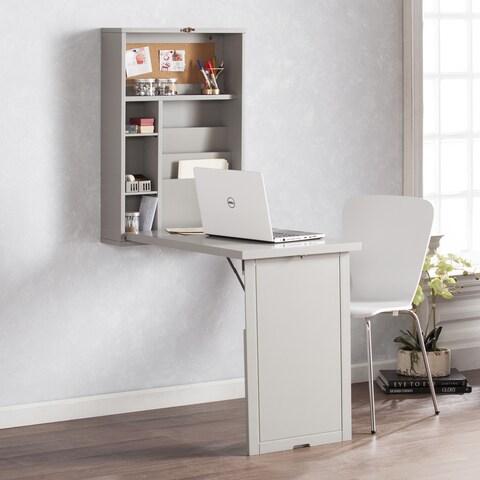 Harper Blvd Raeburne Fold-Out Convertible Wall Mount Desk - Gray