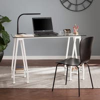 Harper Blvd Jensen Metal/Glass A-Frame Writing Desk - White