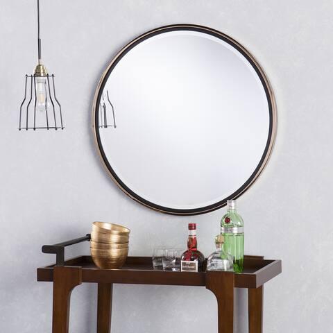 Holly & Martin Round Wall Mirror - Gold