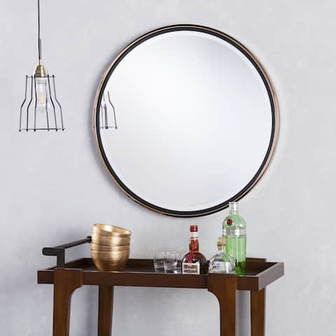 00f702c8d271 Holly   Martin Wais Round Wall Mirror - Black Champagne Gold ...
