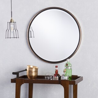 Holly & Martin Wais Round Wall Mirror - Black/Champagne Gold