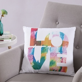 VCNY Home Printed Love 18x18 Throw Pillow