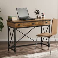 Harper Blvd Lanham 2-Drawer Industrial Writing Desk w/ Keyboard Tray