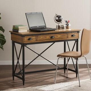 Harper Blvd Lanham 2-Drawer Industrial Writing Desk w/ Keyboard Tray