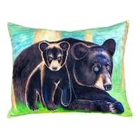 Bear and Cub No Cord Throw Pillow