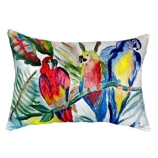 Parrot Family No Cord Throw Pillow