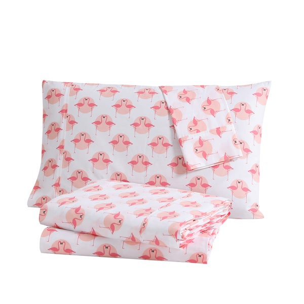 Clairebella Tropical Printed 100-percent Cotton 3 or 4-piece Sheet Set