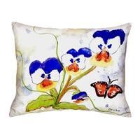 Pansies No Cord Throw Pillow