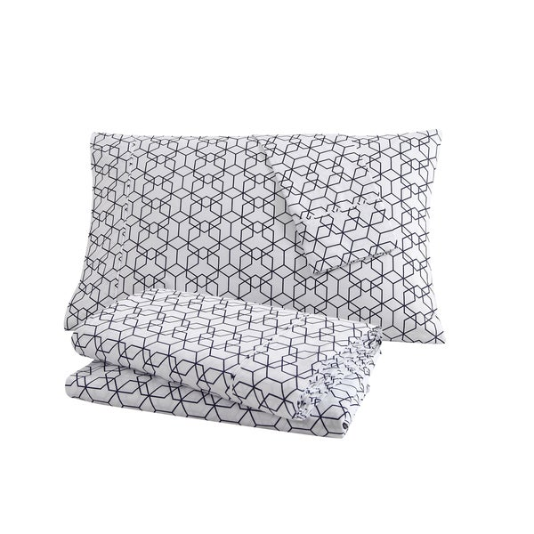 Clairebella Fractal Cotton 3 or 4-piece Sheet Set