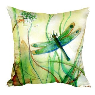 Betsy's Dragonfly No Cord Throw Pillow