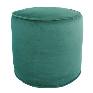 Majestic Plush Cylinder Pouf Ottoman (More options available)