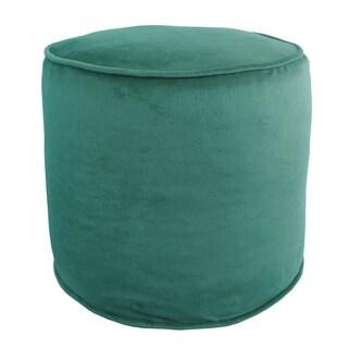 Majestic Plush Cylinder Pouf Ottoman