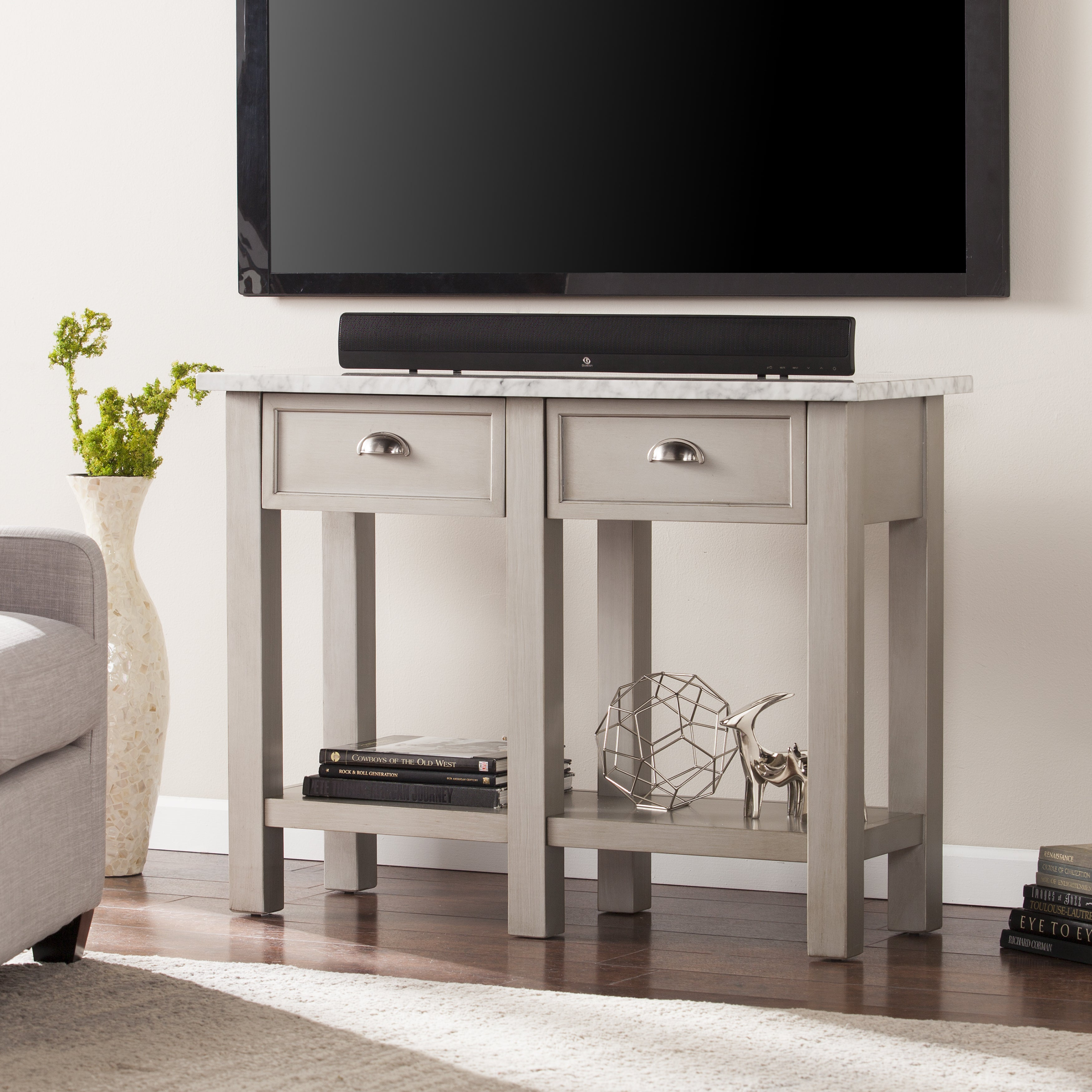 Harper Blvd Yardley Faux Marble Rectangular Console Table...