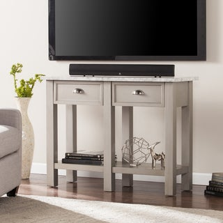 Harper Blvd Yardley Faux Marble Rectangular Console Table - Gray
