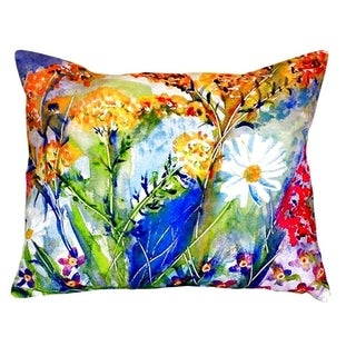 Wild Flower No Cord Throw Pillow