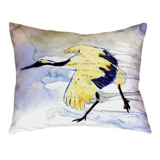 Yellow Crane No Cord Throw Pillow