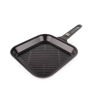 Neoflam MyPan 11-inch Red Ceramic Nonstick Detachable Handle Grill Pan