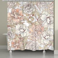Laural Home Blushing Florals Shower Curtain