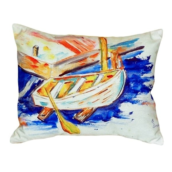 Betsy's Row Boat No Cord Throw Pillow