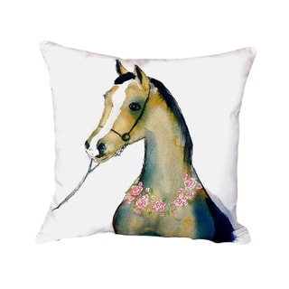 Horse and Garland No Cord Throw Pillow