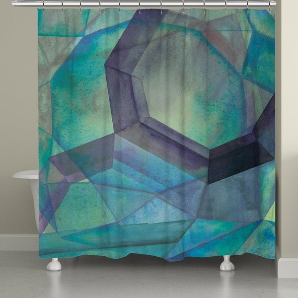 Laural Home Geometric Gemstones Shower Curtain