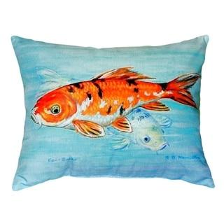 Koi No Cord Throw Pillow