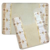 Savoy Bath and Contour Rug Set or Separates- Gold/Ivory