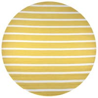 Rizzy Home Azzura Hill Gold Hand-tufted Round Area Rug - 8' x 8'