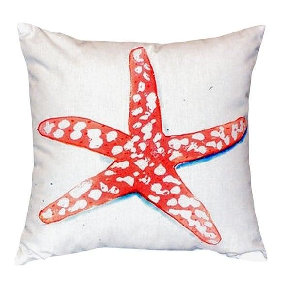 Coral Starfish No Cord Throw Pillow