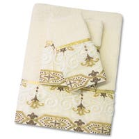 Savoy 3 Piece Towel Set- Gold/Ivory