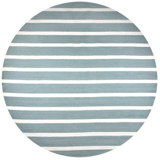 Rizzy Home Azzura Hill Sage Hand-tufted Round Area Rug - 8' x 8'