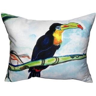 Toucan Zippered Throw Pillow