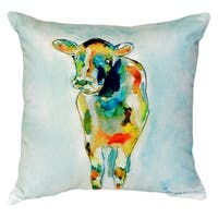 Betsy's Cow No Cord Throw Pillow