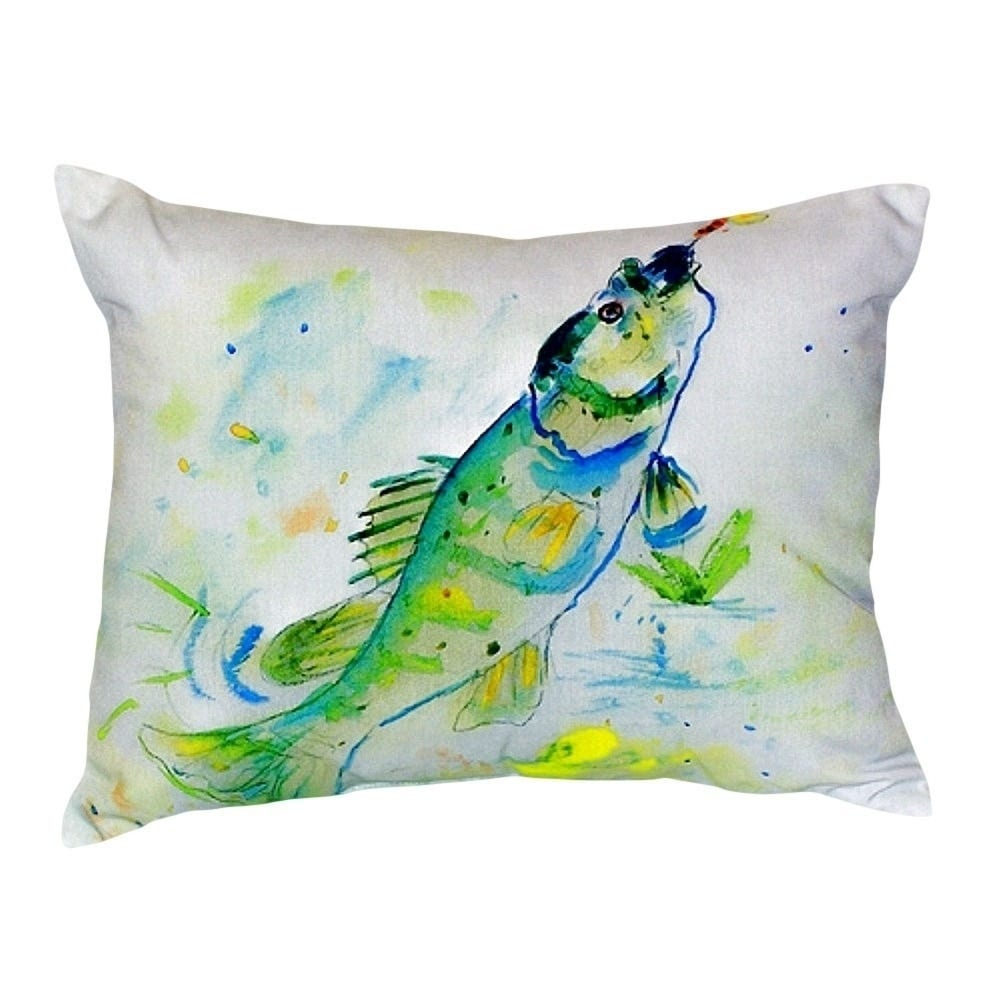 Betsy Drake Yellow Perch No Cord Throw Pillow (Size: 16 x...