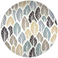 Rizzy Home Azzura Hill Off White Floral Round Area Rug (8' Round) - 8' x 8'