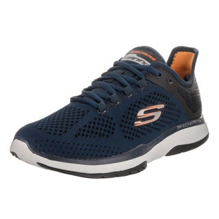 Skechers Men's Burst Tr-Flinchton Blue Synthetic-leather Training Shoes