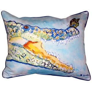 Croc and Butterfly Zippered Throw Pillow