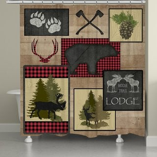 Laural Home Wooded Lodge Shower Curtain