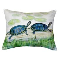Two Turtles No Cord Throw Pillow