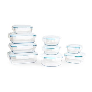 Neoflam CLOC 18-piece Glass and Plastic Food Storage Set