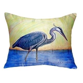 Blue Heron No Cord Throw Pillow